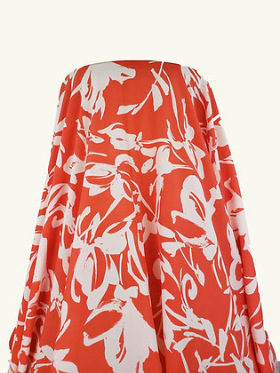 Peach & White Abstract Polyester