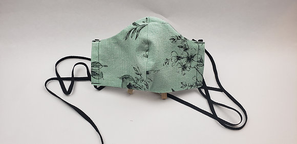 Mint Green &Black Face Mask