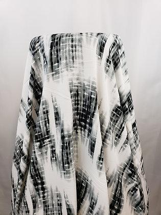 Black and White Tye Dye Rayon Blend