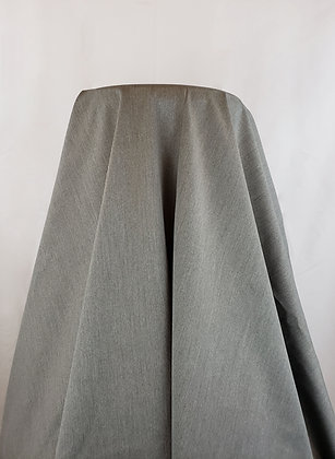 Gray Polyester Twill Suiting