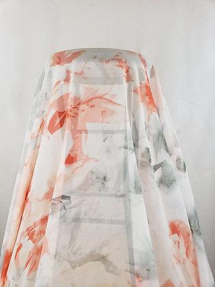 Deep Coral Pink/Stormy Gray Sheer