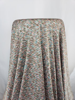 Tan/Teal/Blush Brushstroke Abstract Knit