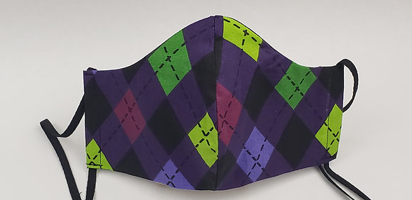 Purple Argyle Face Mask