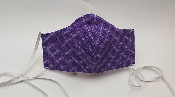Purple Squares Face Mask