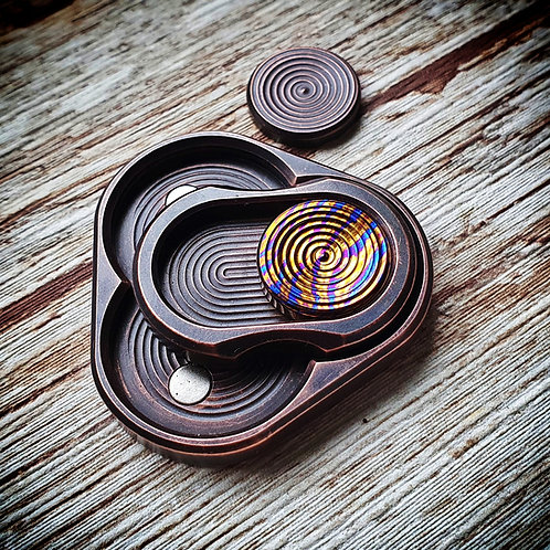 Triquetra Pre-order (Copper plated brass + timascus button)