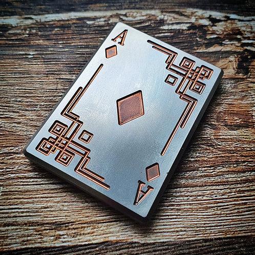 Titanium ClickBar 2x3 (Ace of Diamonds with copper accents) Pre-order
