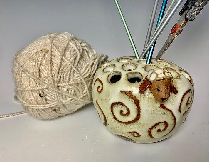 Sheep Knitting Needle  Holder