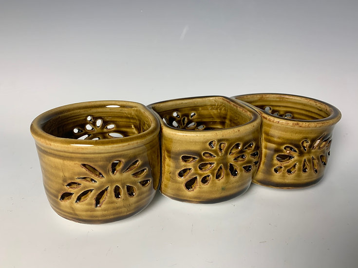 Three Attached Candle Holder