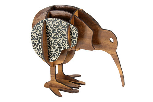 Wood & Koru Kiwi (boxed)
