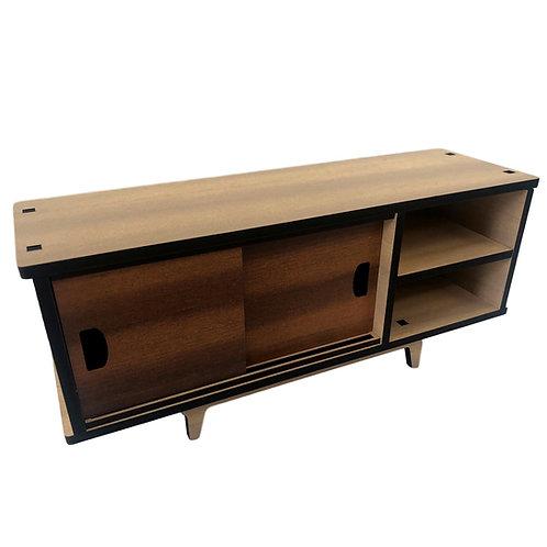 Two door cabinet with shelves