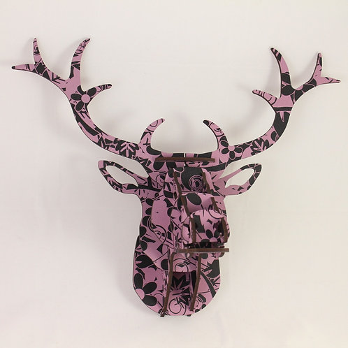 Purple Floral Stag