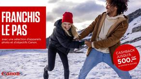 Promotion d'hiver Canon 2021