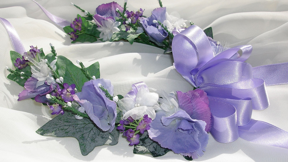Lilac Flower Bridal Horseshoe-HS001