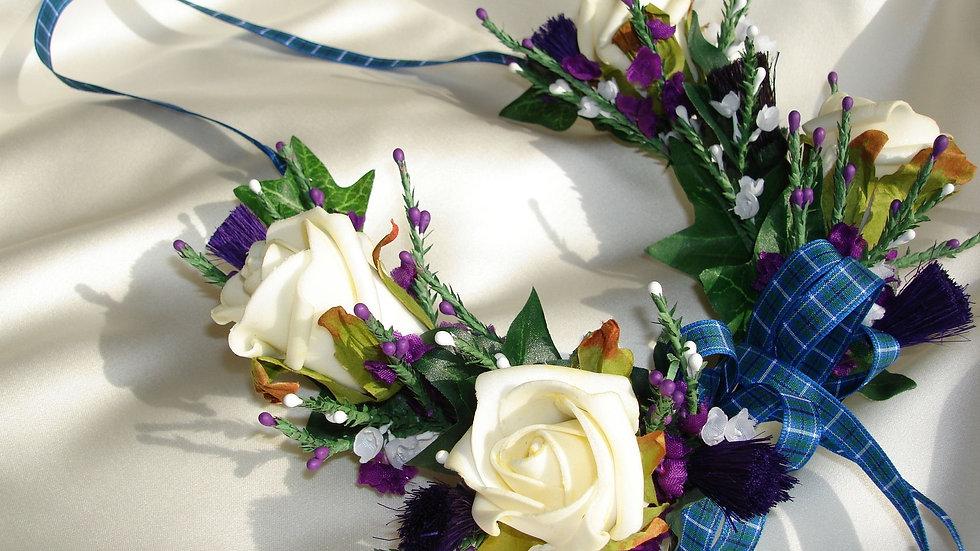 Thistle,Heather & Rose Bridal Horseshoe-HS002
