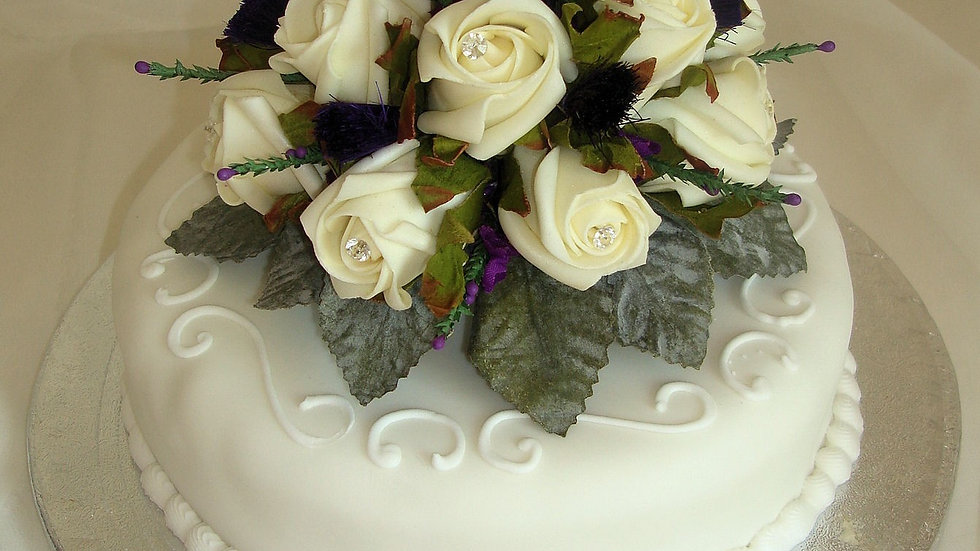 Thistle Heather and Rose Cake Decoration-CT002