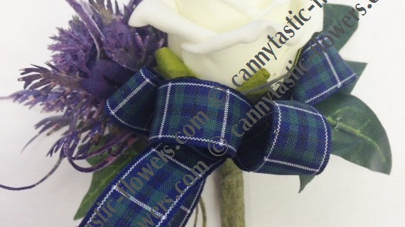 Spiky thistle & rose Buttonhole-BH051
