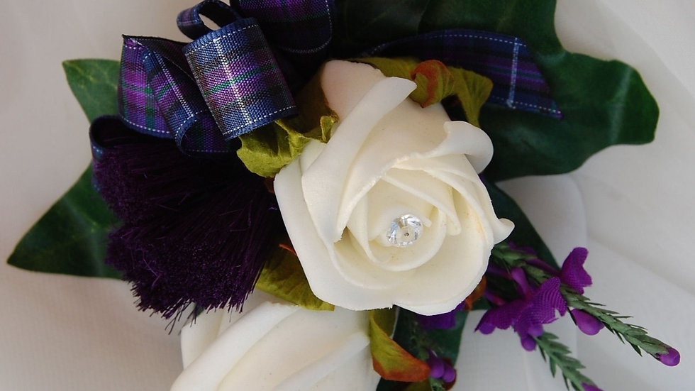 Thistle, Heather, Rose & Pride Corsage-CR001