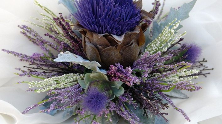 Large Thistle Cake Decoration-CT008