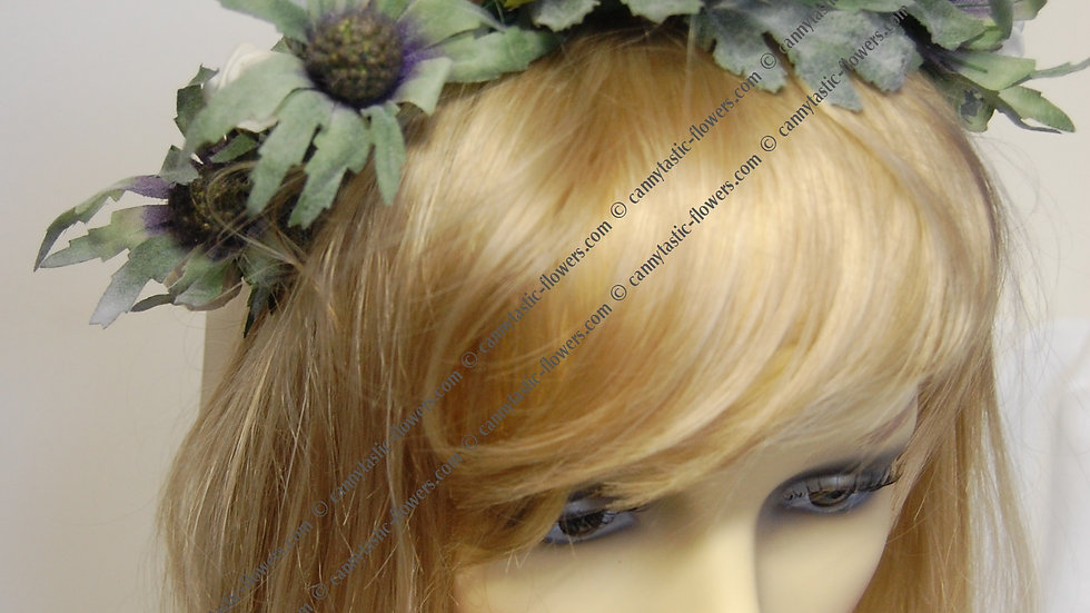 Rose and thistle headdress HC010