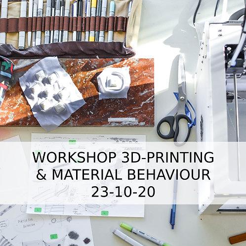 Workshop 3D-Printing on textile & Material behaviour
