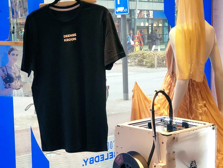 Personalise your shirt at our 3D print Pop-Up store in the Deense Kroon!