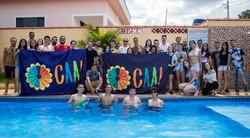 Voluntários do CAAI em uma integração