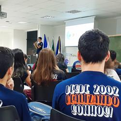 Alunos do CAAI em um evento no Complexo Histórico e Cultural da UNIFEI