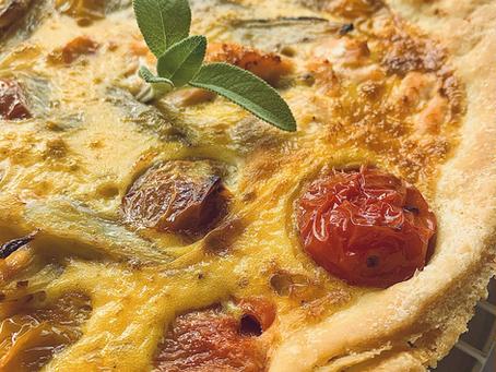 Salmon, Fennel & Heirloom Tomato Quiche