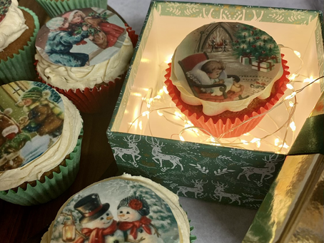 Warming Ginger and Toffee Christmas Cupcakes