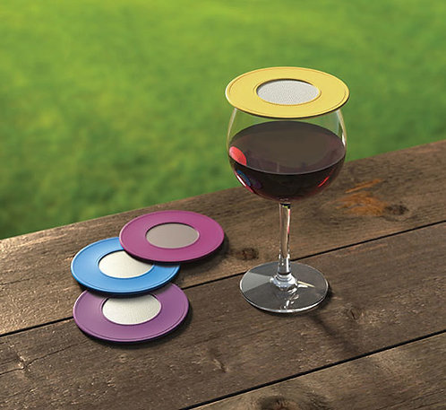 Ventilated Wine Glass Covers - Singles