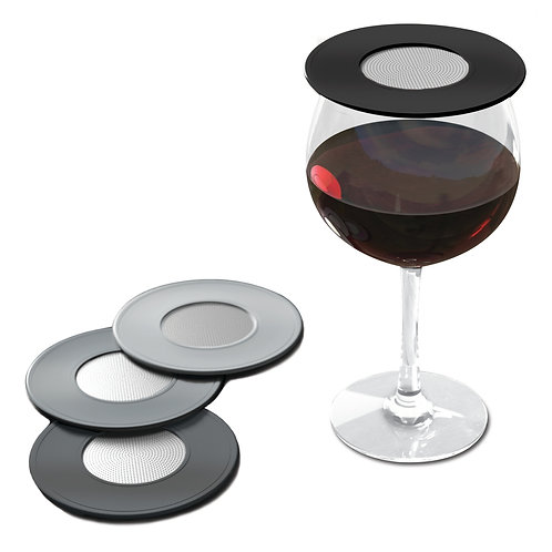 Ventilated Wine Glass Covers - Set of 4
