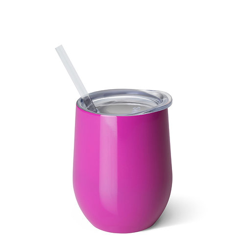 Swig 12oz Stemless Wine Cup - Berry