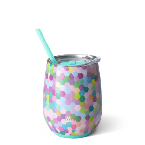 Swig 14oz Stemless Wine Cup - Confetti Party