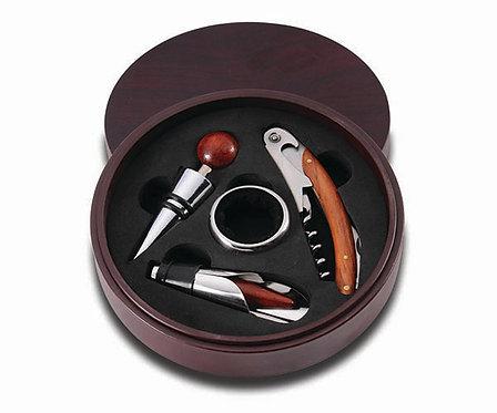 Round Box Wine Tool Set