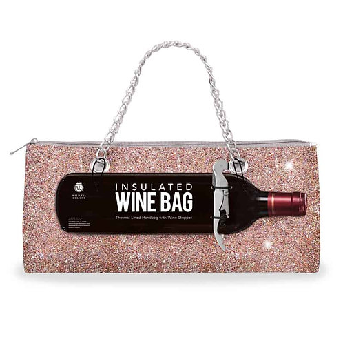 Champagne Confetti Insulated Wine Bag & Corkscrew