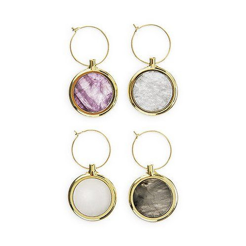 Agate Wine Charm Set by Twine®