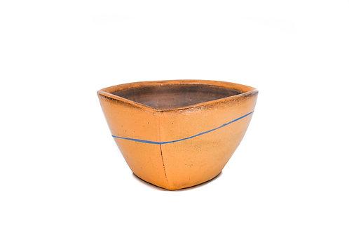 Orange Altered Square Bowl #4