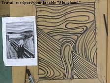 """Pascal Michaud, table """"Munchaud"""" fer forgé, rhéocréation.com"""