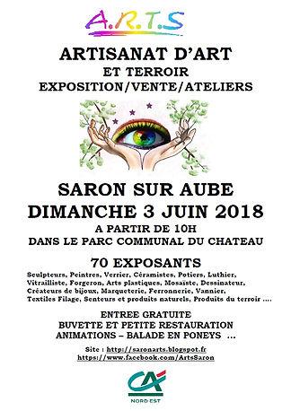 Marché de la création Saron sur Aube 2018, Pascal Michaud