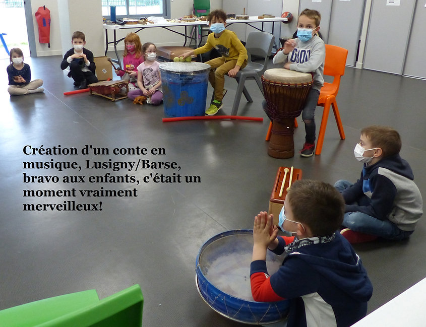 Animation percussion Lusigny fevrier 2021 clsh,