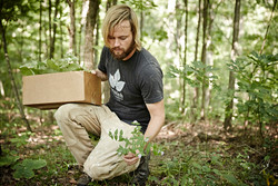 Aaron foraging for ingredients
