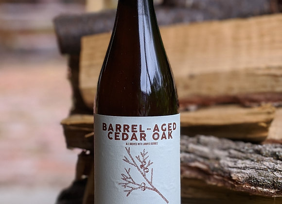 Bottle of Barrel-Aged Cedar Oak
