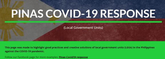 PINAS COVID-19 RESPONSE (Local Government Units)