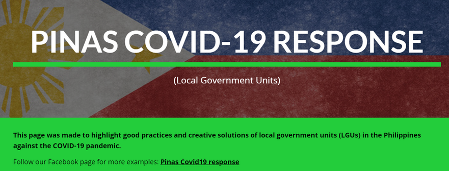 PINAS COVID-19 RESPONSE (Local Government Units)