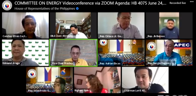 COMMITTEE ON ENERGY Videoconference via ZOOM Agenda: HB 4075 June 24, 2020 1:30PM
