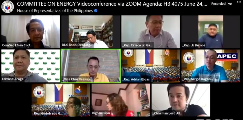 COMMITTEE ON ENERGY Videoconference via ZOOM Agenda: HB 4075 June 24, 2020 1:30PM