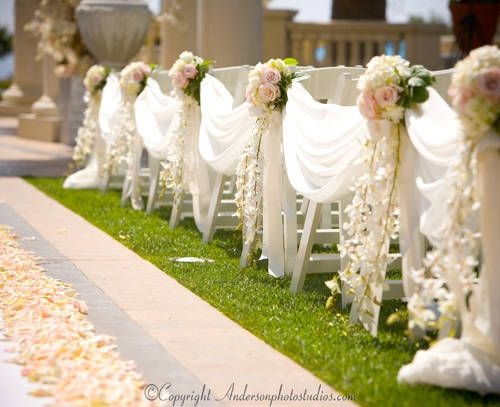 Drape aisle decor