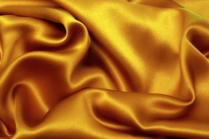 drapes silk gold