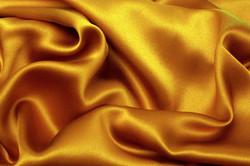 drapes silk gold