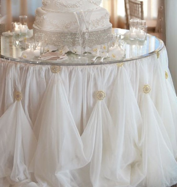 Cinderella skirt cake table